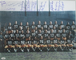 1967 GREEN BAY PACKERS MULTI SIGNED 11x14 TEAM PHOTO