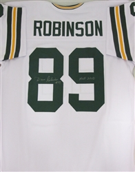 DAVE ROBINSON SIGNED PACKERS WHITE CUSTOM JERSEY W/ HOF 2013
