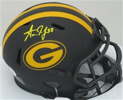 AARON JONES SIGNED PACKERS ECLIPSE MINI HELMET - BCA