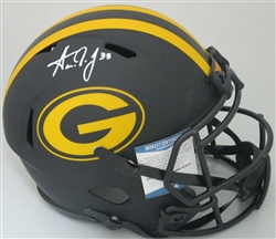 AARON JONES SIGNED FULL SIZE PACKERS REPLICA ECLIPSE SPEED HELMET - BCA