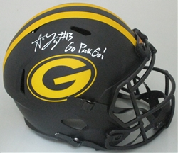 ALLEN LAZARD SIGNED FULL SIZE PACKERS REPLICA ECLIPSE HELMET W/ GO PACK GO - JSA