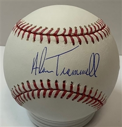 ALAN TRAMMELL SIGNED OFFICIAL MLB BASEBALL - JSA - TIGERS