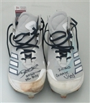 DEVIN WILLIAMS SIGNED ADIDAS 2020 GAME USED CLEATS #2 - JSA