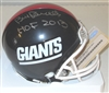 BILL PARCELLS SIGNED GIANTS MINI HELMET W/ HOF
