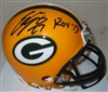 EDDIE LACY SIGNED PACKERS MINI HELMET W/ ROY '13