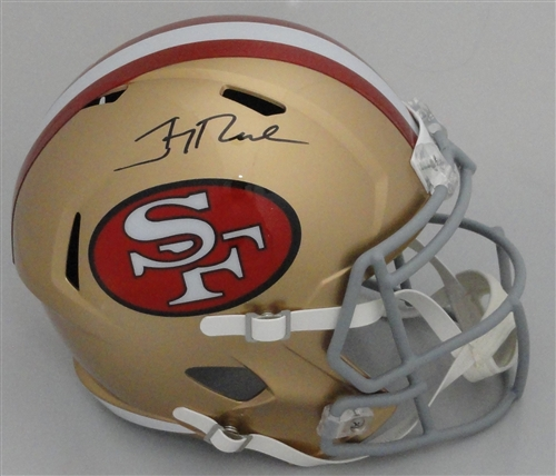 79a642749 JERRY RICE SIGNED FULL SIZE SF 49ers REPLICA HELMET - BCA