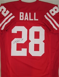 MONTEE BALL SIGNED BADGERS HOME RED CUSTOM JERSEY