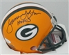 JAMES LOFTON SIGNED PACKERS MINI HELMET W/ HOF