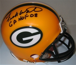 FRANK WINTERS SIGNED PACKERS MINI HELMET W/ GB HOF