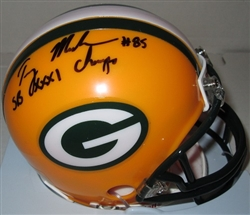 TERRY MICKENS SIGNED PACKERS MINI HELMET W/ SB CHAMPS
