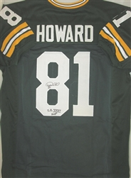 DESMOND HOWARD SIGNED GREEN PACKERS CUSTOM JERSEY W/ SB MVP