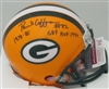 PAUL COFFMANS SIGNED PACKERS MINI HELMET W/ YRS HOF PB