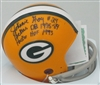 JOHNNIE GRAY SIGNED PACKERS MINI HELMET W/ SCRIPTS