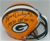 LYNN DICKEY SIGNED PACKERS MINI HELMET W/ YRS & HOF