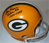 LARRY KRAUSE SIGNED PACKERS MINI HELMET W/ YEARS