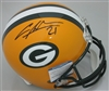 CHARLES WOODSON SIGNED FULL SIZE PACKERS REPLICA HELMET - JSA