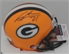 CHARLES WOODSON SIGNED PACKERS MINI HELMET - BCA