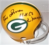 KEN IMAN (d) SIGNED PACKERS 2-BAR MINI HELMET W/ 61 62 CHAMPS