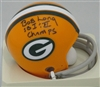 BOB LONG SIGNED PACKERS MINI HELMET W/ SB I II