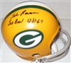 JOHN ROWSER SIGNED PACKERS MINI HELMET W/ ICE BOWL