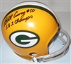 BILL CURRY SIGNED PACKERS MINI HELMET W/ SB I CHAMPS