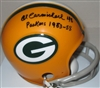 AL CARMICHAEL SIGNED PACKERS MINI HELMET W/ YEARS