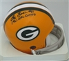 LEE FOLKINS SIGNED PACKERS MINI HELMET W/ 1961 CHAMPS