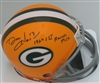 DON HORN SIGNED PACKERS MINI HELMET W/ 1967 1ST RND PICK