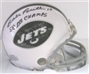 BABE PARILLI SIGNED NY JETS MINI HELMET W/ SB CHAMPS