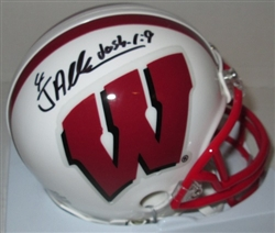 JARED ABBREDERIS SIGNED WI BADGERS MINI HELMET