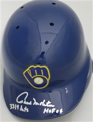 PAUL MOLITOR SIGNED BREWERS FULL SIZE HELMET w/ HOF HITS