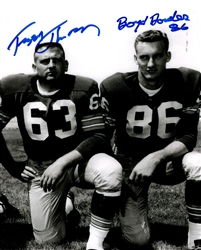 JERRY KRAMER & FUZZY THURSTON SIGNED 8X10 PACKERS PHOTO #1