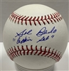 "SAL BANDO SIGNED MLB BASEBALL W/ ""CAPTAIN"""