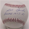 "SAL BANDO SIGNED MLB BASEBALL W/ ""BREWERS 1977-81"""