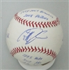 GEOFF JENKINS SIGNED MLB BASEBALL W/ CAREER STATS