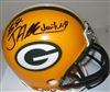 JARED ABBREDERIS SIGNED PACKERS MINI HELMET