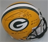 DONALD DRIVER SIGNED FULL SIZE PACKERS PRO LINE HELMET W/ CAREER STATS - JSA