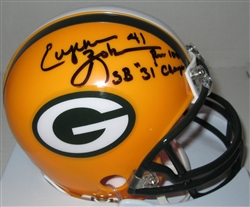 EUGENE ROBINSON SIGNED PACKERS MINI HELMET W/ SB XXXI CHAMPS