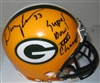DOUG EVANS SIGNED PACKERS MINI HELMET W/ SB XXXI CHAMPS