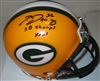 TRAVIS JERVEY SIGNED PACKERS MINI HELMET W/ SB XXXI