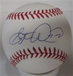 STEVE WOODARD SIGNED MLB BASEBALL