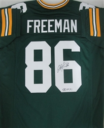 ANTONIO FREEMAN SIGNED PACKERS CUSTOM REPLICA JERSEY W/ SB XXXI