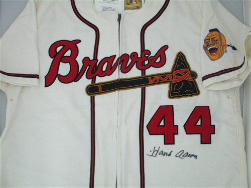 finest selection 42602 e73b5 HENRY HANK AARON SIGNED 1957 MITCHELL & NESS JERSEY