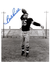 BABE PARILLI SIGNED 8X10 PACKERS PHOTO #1
