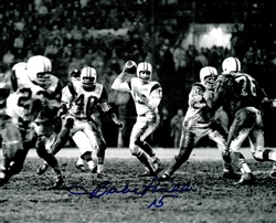 BABE PARILLI SIGNED 8X10 JETS PHOTO #4