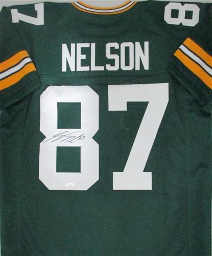 JORDY NELSON SIGNED CUSTOM GREEN PACKERS JERSEY - JSA