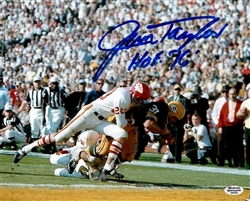 JIM TAYLOR SIGNED 11X14 PACKERS PHOTO #2