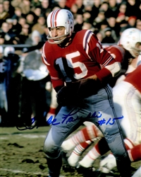 BABE PARILLI SIGNED 8X10 PATRIOTS PHOTO #7