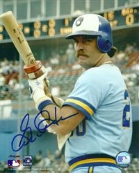 GORMAN THOMAS SIGNED 8X10 BREWERS PHOTO #10