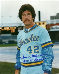 TOM TELLMANN SIGNED 8X10 BREWERS PHOTO #2